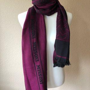 Missoni Chevron Print Purple Black Winter Scarf
